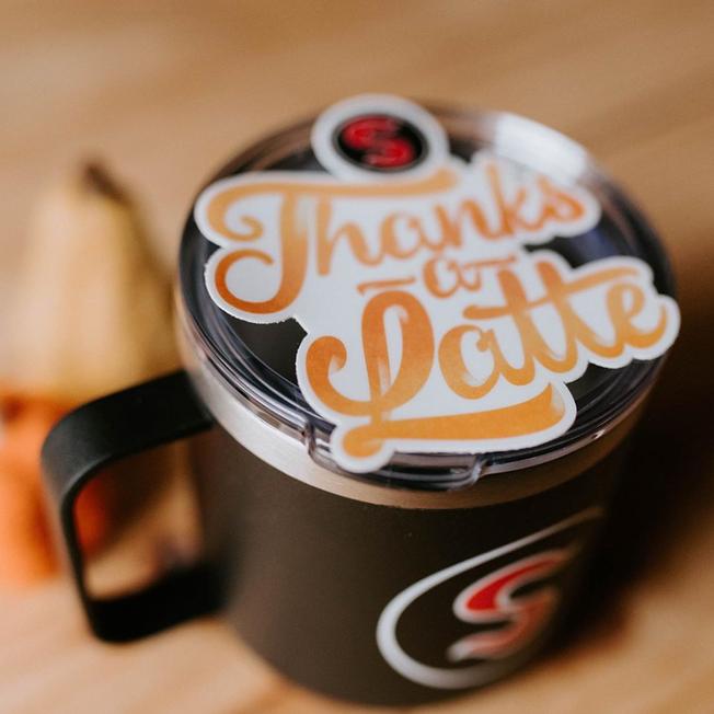 Thanks-a-Latte Sticker