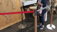 木製パーテーション使用例