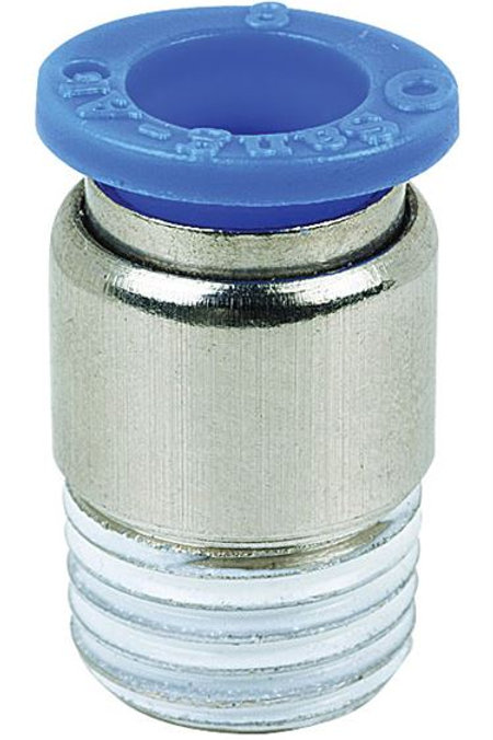Round Body Male Stud Coupling (BSPT)