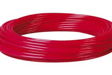 Metric Polyurethane Tube Red 100m Coil