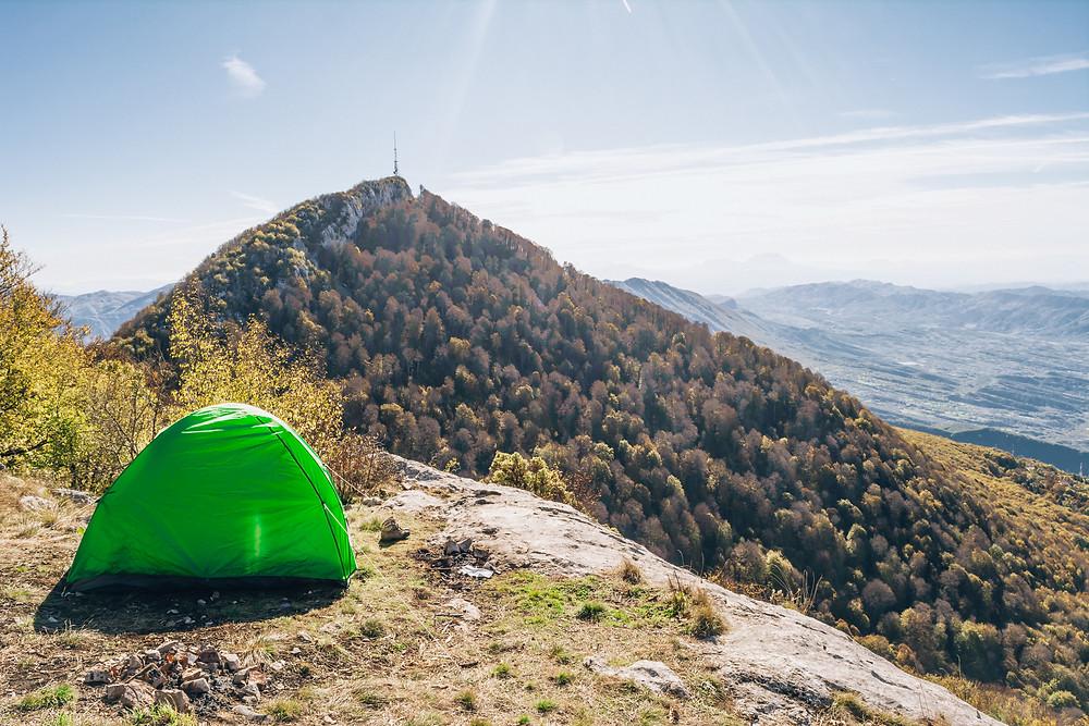 Camping on Mount Dajti