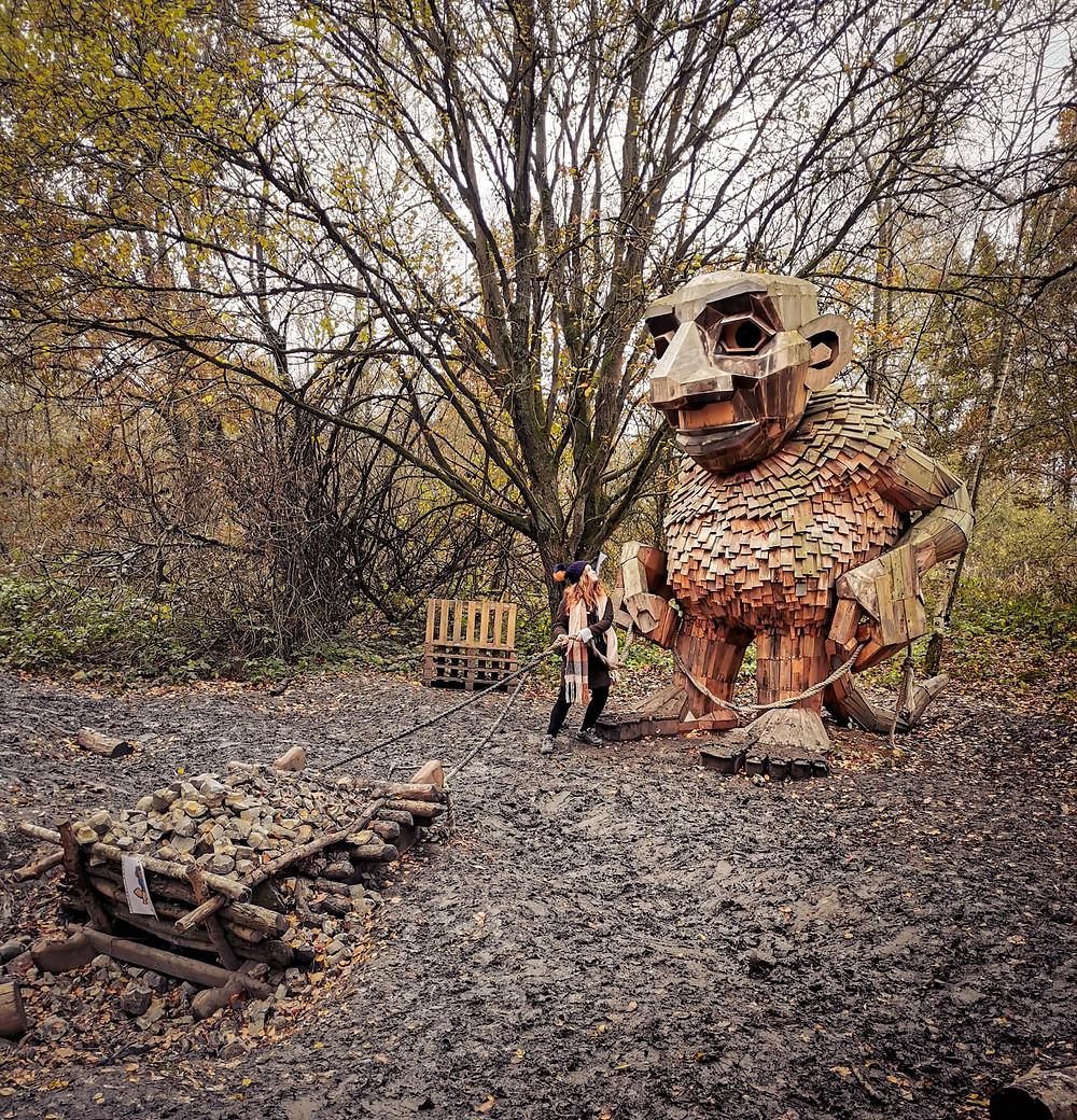 Troll walk at the Schorre in Antwerp