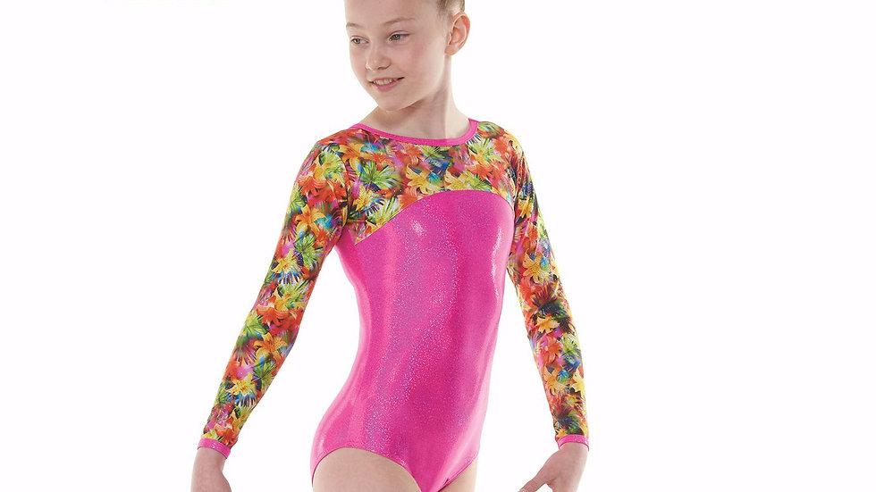 Tropical Fantasy Long  Sleeved Gymnastic Leotard