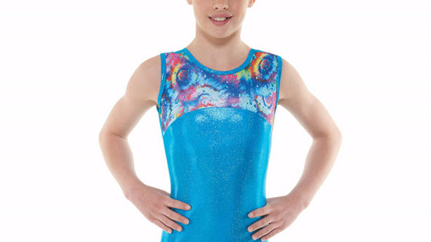 Turquoise Meteor Sleeveless Gymnastic Leotard