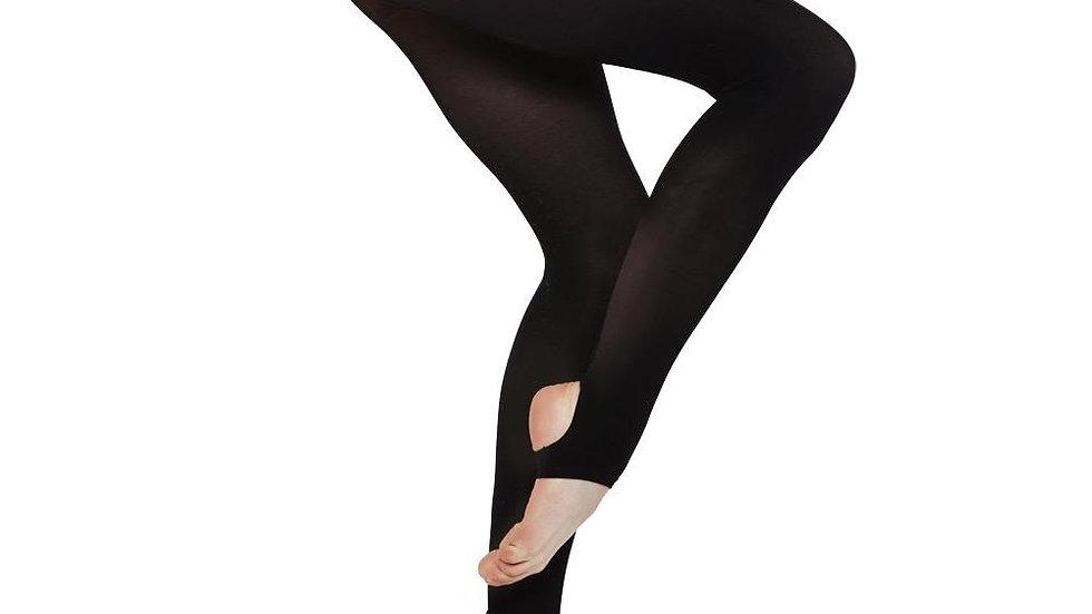 BLACK Lycra Stirrup Leggings