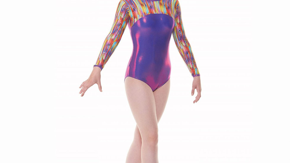 Joker Purple Long Sleeved Gymnastic Leotard