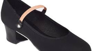 Cuban Heel Canvas Character Shoe