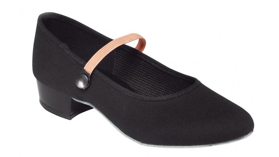 Low Heel Canvas Character Shoe