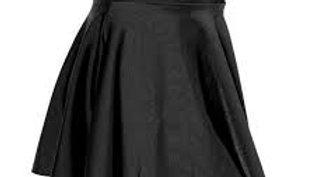 BLACK Circular Lycra Skirt