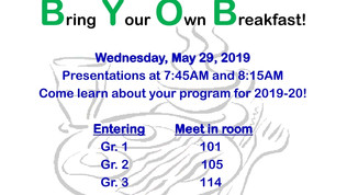 Bring Your Own Breakfast 5/29/19