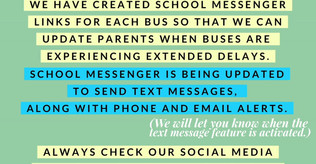 School Messenger Activated for Delayed Bus Notifications