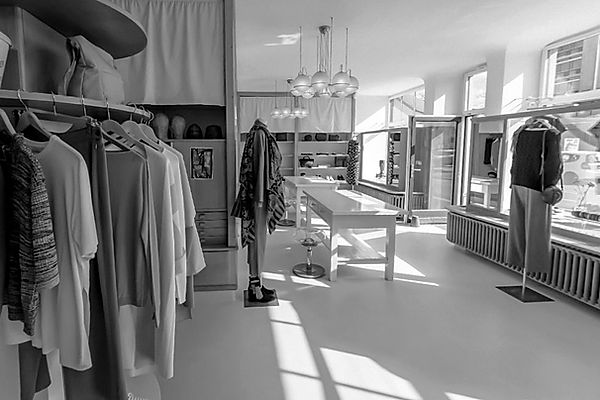 Inside view of pi.collection store in Uster