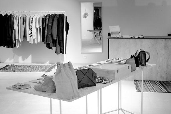 Inside view of AHOI*AHOI store in Basel