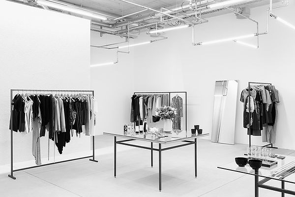 Inside view of Opia fashion concept store in Zurich