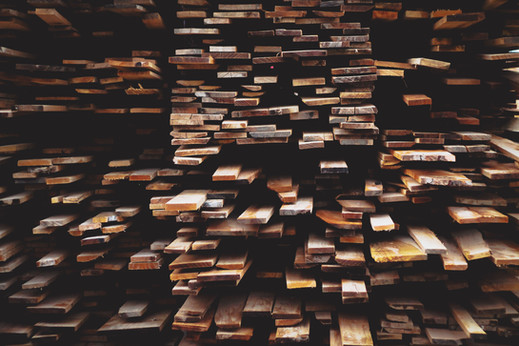 Pilas de madera