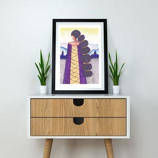 'Queen' A4 Art Print