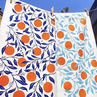 'Oranges' Tea Towel