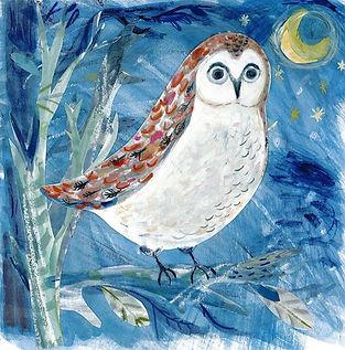 'Owl At Night' Giclée Print