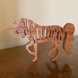 Unicorn Puzzle Ornament