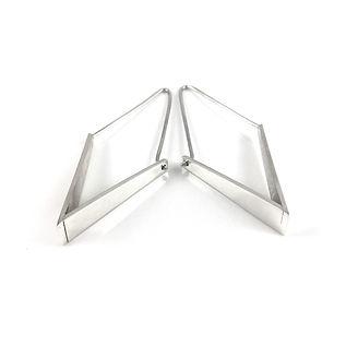 Geo Silver Diamond Earrings