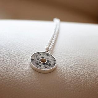 Dalmatian Stone Pendant Necklace