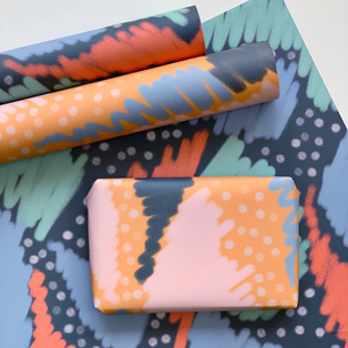 Eco Friendly Wrapping Paper (Set of 2) by Clare Gray Makes