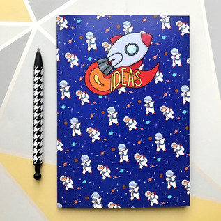 A5 Space Notebook - Fox & Badger