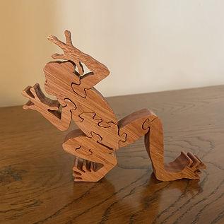 Frog Puzzle Ornament