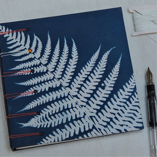 Cyanotype Fern Print Journal