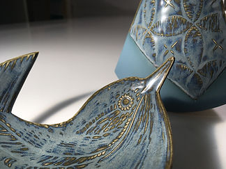 Ruth Fairhead Ceramics Wren and Equilibr