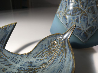 Ruth Fairhead Ceramics Wren and Equilibr
