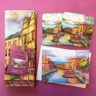 'Evening Sun, Quayside' Gift Set