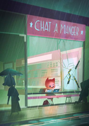 celine-choo-chat-a-manger-illustration