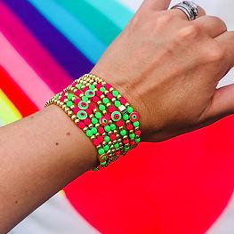 Neon Evil Eye Bracelet | £22.00