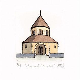 'Round Church' Drypoint