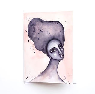 'Yearning' Art Greetings Card