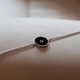 Black Colorit Silver Bracelet