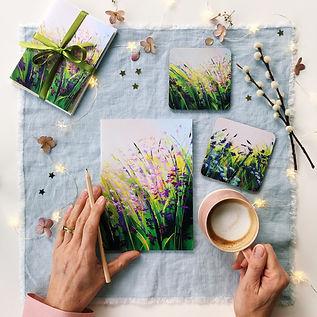 Stationery & Coasters Gift Set