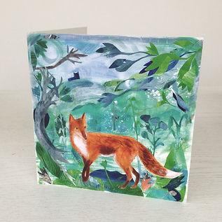 'Fox' Greetings Card