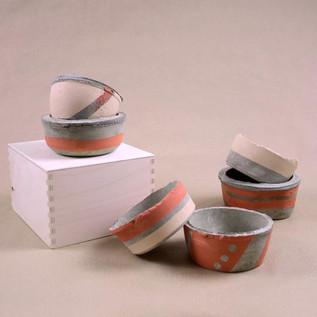 Concrete Pots - Warm Collection
