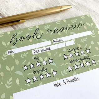 Book Review Notepad