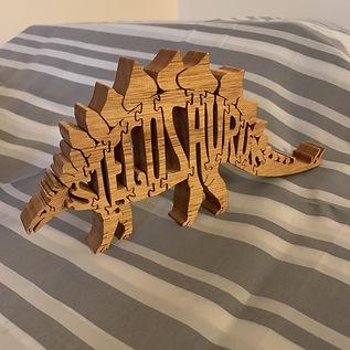 Stegosaurus Puzzle Ornament