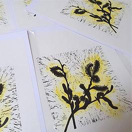 Catkins Lino Print (Unframed)   £40.00