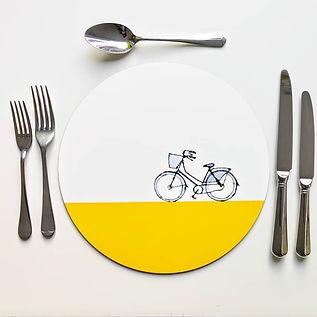 'Bike' Circular Placemats