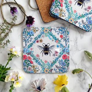 Bee & Flowers Coaster