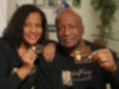 rufus and denise with cards1.JPG