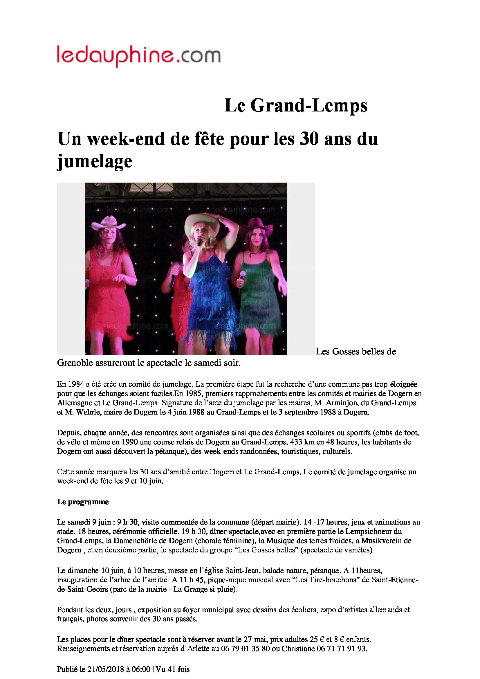 Dauphiné Libéré Le Grand Lemp