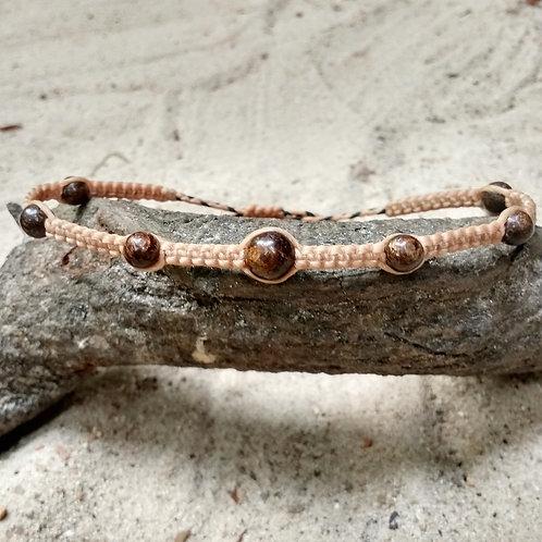 Bracelet de cheville bronzite