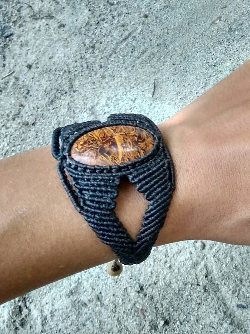 Bracelet Aruna Jaspe script