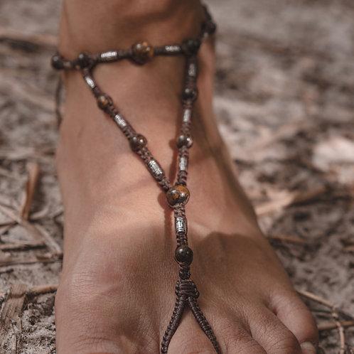 bijou de pied bronzite